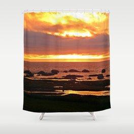 Stunning Orange Sunset Shower Curtain