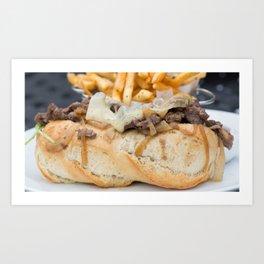 Steak Sandwich with a side of Fries Art Print