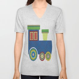 Kids Train Engine Unisex V-Neck