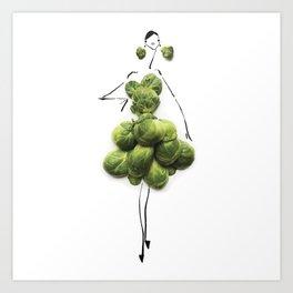 Edible Ensembles: Green Sprouts Art Print