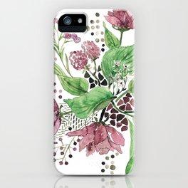 Floral festival iPhone Case