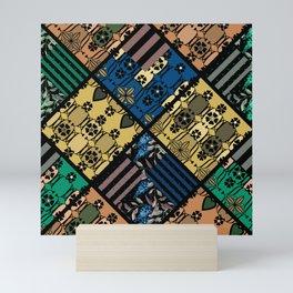 Folklore , patchwork , rustic Mini Art Print