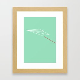 Paper Airplane - You Can Fly - Graphic - Julep (1 of 3) Framed Art Print