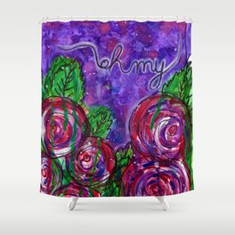 Watercolor Roses - Oh My Shower Curtain