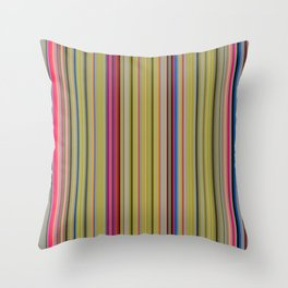 Colorful Stripes Barcode 1 Throw Pillow