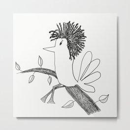 Sitting On A Tree Metal Print