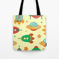 outer space Tote Bags featuring Outer space by olillia