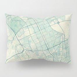 Riyadh Map Blue Vintage Pillow Sham