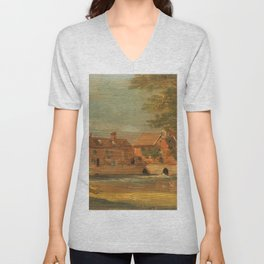 "John Constable ""Flatford Mill"" Unisex V-Neck"