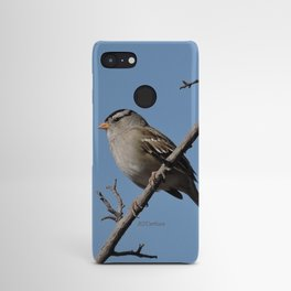 A White-Crowned Sparrow Eyes the Botanic Garden Android Case