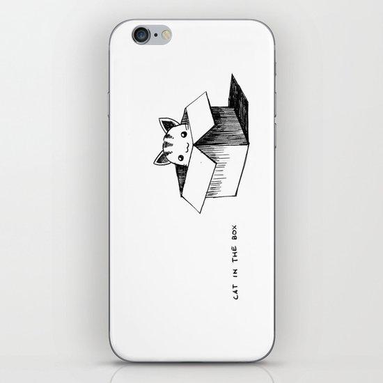 Cat in the box iPhone & iPod Skin