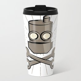 Jolly Robot 02 Metal Travel Mug