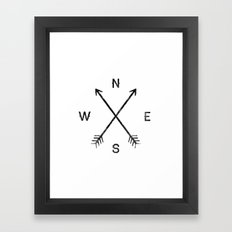 Compass (White) Framed Art Print
