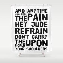 Hey Jude Lyrics Shower Curtain