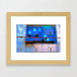 Barbed and Dangerous Framed Art Print