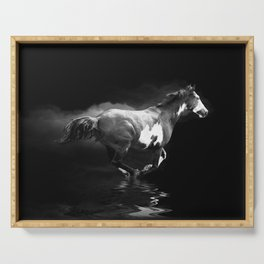 Galloping Pinto Horse Serving Tray