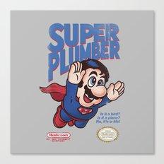 Super Plumber Canvas Print