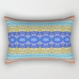 Elegant Neo Tribal Aztec Boho Print Rectangular Pillow