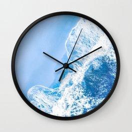 Little Blue Waves | Aerial Beach Wall Clock