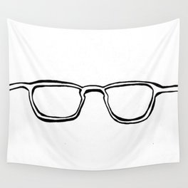Four Eyes - B/W Wall Tapestry