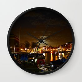 Yellow Moon Wall Clock