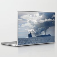 duvet cover Laptop & iPad Skins featuring AMAZING CLOUD DUVET COVER by aztosaha