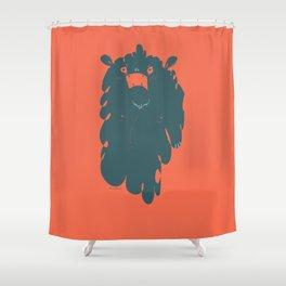 Grump Monster Shower Curtain