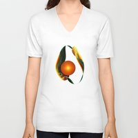 karu kara V-neck T-shirts featuring New Life by Klara Acel