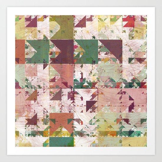 Aztec Vintage Pattern 12 Art Print