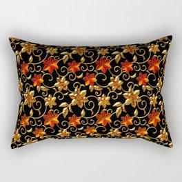 Metall Blumen Rectangular Pillow