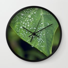 Misty Leaf Wall Clock