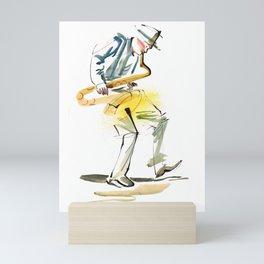 Saxophone Musician art Mini Art Print