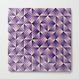 Purple Geo Pattern Metal Print