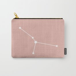 Cancer Zodiac Constellation - Pink Rose Carry-All Pouch