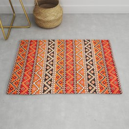 N177 - BOHO Hippie Traditional Colored Moroccan Pattern Style  Rug