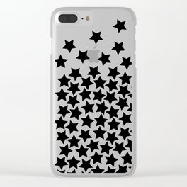 Lots of Black Stars Clear iPhone Case