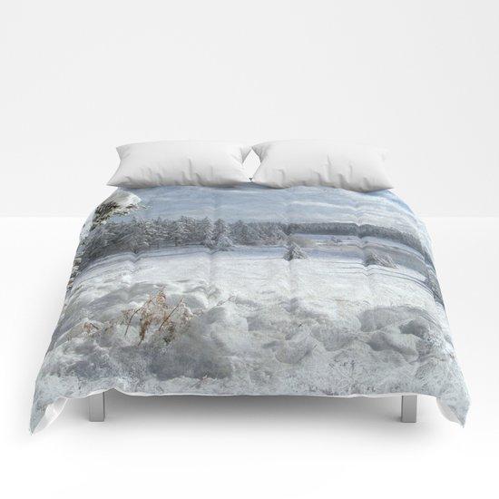 Scenery forest Winter Wonderland Comforters