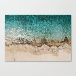 Caribbean Sea Blue Beach Drone Photo Canvas Print