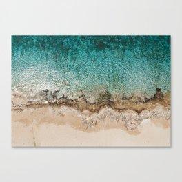 Caribbean Sea Blue Beach Drone Photo Canvas Print