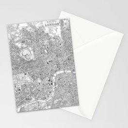 London Old Map Stationery Cards