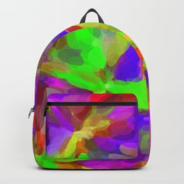 circle pattern abstract background in pink purple green yellow red Backpack