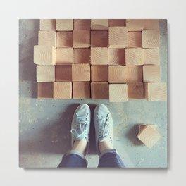 Wood Blocks Metal Print