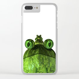 Frog Face Clear iPhone Case
