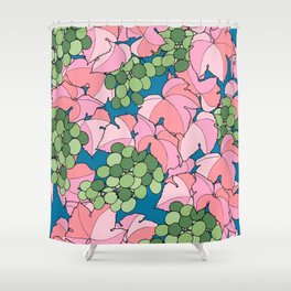 Pink Grapes Shower Curtain
