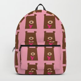 Bear in love pink Backpack