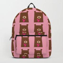 Bear in love pink Backpack