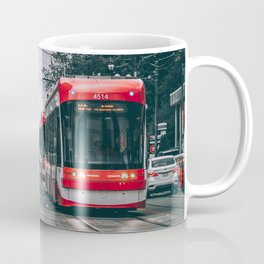 Storms and Streetcars At Danforth Ave and Broadview Ave, Toronto Cityscape Photograph Coffee Mug