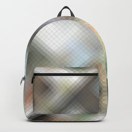 Geodesic design. Abstract gradient art geometric background with soft color tone, cell grid. Ideal f Backpack