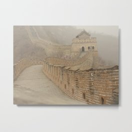 Pathway of the Great Wall of China Metal Print