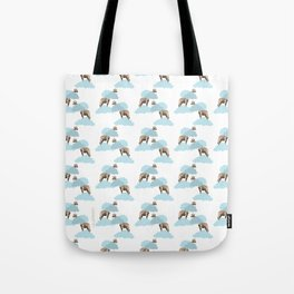 Giraff in the clouds . Joy in the clouds collection Tote Bag